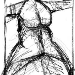 MONDSCHEIN. MOONSHINE. 2006. graphite on handmade paper. 33 x 24 cm