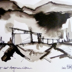 STADT DER ARGONAUTEN/CITY OF THE ARGONAUTS. 2010. ink and ink brush on handmade paper. 30 x 21 cm