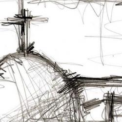 STARE MIASTO. 2008. graphite on handmade paper. 33 x 24 cm