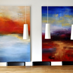 REMEMBER THE DREAMS WE ONCE HAD. triptych 2018. 380 x 150 cm
