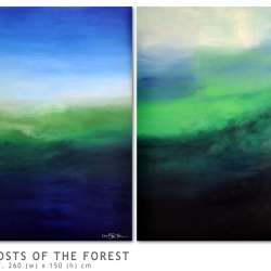 THE GHOSTS OF THE FOREST. diptych 2017. 250 x 150 cm