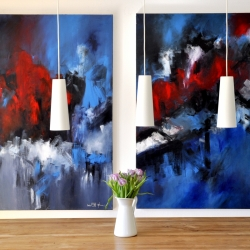 LOVE AND POISON. diptych 2010. 250 x 150 cm