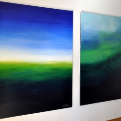 THE GHOSTS OF THE FOREST. diptych 2019. 260 x 150 cm