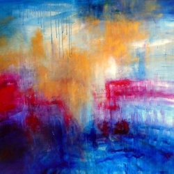 LASS UNS EIN NEUES JERUSALEM ERBAUEN. LET US BUILD A NEW JERUSALEM. 2013. 150 x 120 cm. oil/acrylic on canvas