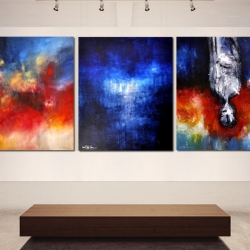 FROM FEAR TO LOVE. triptych 2013. 320 x 120 cm