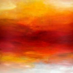 AS IF THE SUN ENLIGHTENS THE SEA. 2017/18. 120 x 100 x 4,5 cm