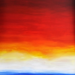 IF I COULD LOOK BEYOND THE HORIZON. 2020. 150 x 120 cm