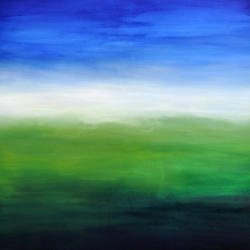 WHEN THE NIGHT FALLS ON SACRED LAND III. 2020. 100 x 80 cm