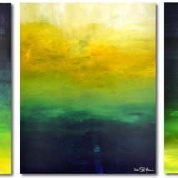AFTER THE RAIN HAS FALLEN. triptych 2020. 380 x 150 x 2 cm