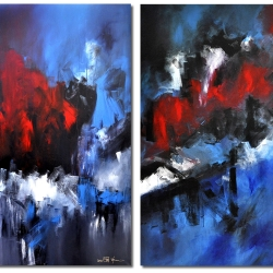 LOVE AND POISON (diptych). 2010. 250 x 150 cm