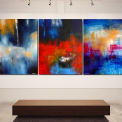 A WAR TO END ALL WARS. triptych 2014. 380 x 150 cm