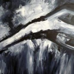 NACHTWACHE. VIGIL. 2008. acryl on canvas. 120 x 100 cm