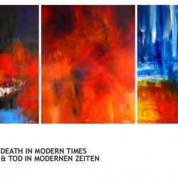 LIFE, LOVE & DEATH IN MODERN TIMES. LEBEN, LIEBE & TOD IN MODERNEN ZEITEN. Triology 2015. 375 (w) x 150 (h) cm