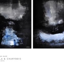 SCYLLA AND CHARYBDIS. 2016. diptych. 260 x 150 cm