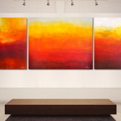 THE GENTLE ABSTRACTION OF LIGHT. triptych 2016. 370 x 120 cm