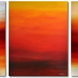 FROM THE FIRST PROMISING LIGHT TO THE VERY LAST LIGHT. triptych 2020. 380 x 150 cm . 149,6 x 59,1 inche
