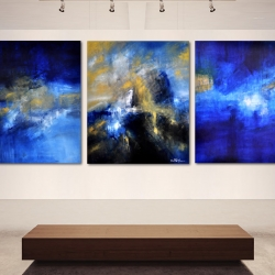 HOME TO THE GOLDEN SHORES I BELONG. triptych 2014. 310 x 120 cm