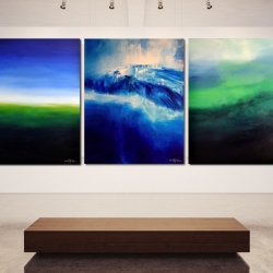 IT IS ALWAYS DARKEST BEFORE THE DAWN II. triptych 2019. 380 x 150 cm