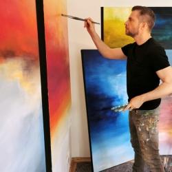 Christian Bahr in his studio