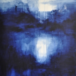 TEARS FROM DIFFERENT SKIES FILL THE OCEAN. 2020. 150 x 120 cm